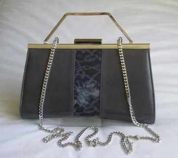 Renata designer 3 way bag  smoke grey/blue.Mother of the bride