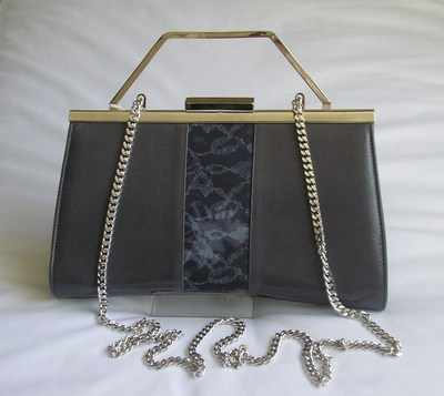 Designer Renata 3 way bag  smoke grey/blue.Mother of the bride