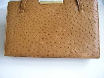 Ackery large vintage ostrich leather bag 005
