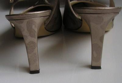 Renata brocatto beige matching shoes bag size6.5 005