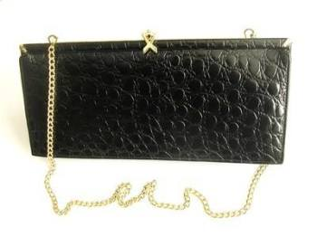 Ackery designer bag.black leather shoulder clutch .