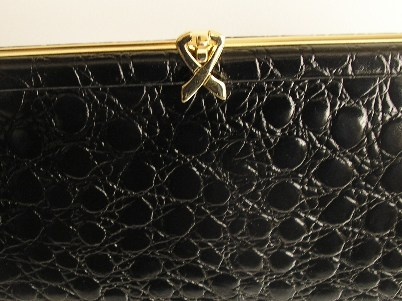 Ackery black leather clutch ,should...jpg