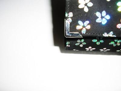 Renata black suede holographic flowers 003