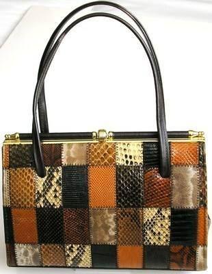 Designer handbag Elbief.patchwork snakeskin stunning vintage