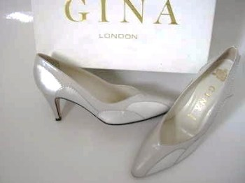 Gina designer shoes silver grey courts size 3.5 to size 4 new wedding