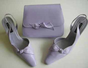 Jacques Vert pale lilac mother bride shoes.matching bag size 4 to 4.5