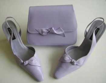 Jacques Vert pale lilac mother bride shoes.matching bag size 4.-4.5