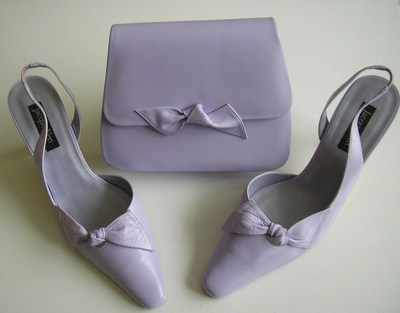 Jacques Vert pale lilac shoes with bow matching bag size 4-4.5 7e08beaf3