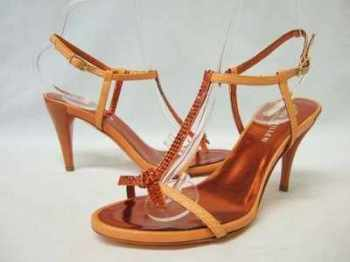 Karen Millen  shoes orange swarovski crystals size 3