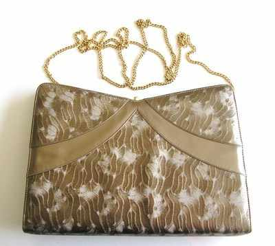 Gina designer evening,occasions bag. dark mink shimmer