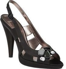 Carvela designer shoes black jewel sandal size 4 .New.boxed