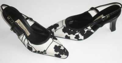 Jacques Vert designer shoes black,white,slingbacks size 3.5
