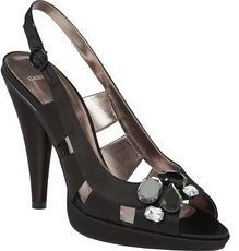 Carvela designer shoes black jewel sandal size 6