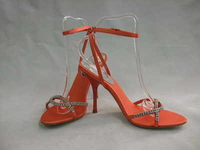 Karen Millen  shoes coral  jewel  sandals size 3 new