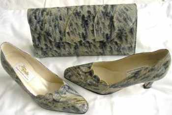 Renata designer shoes matching bag mother bride size 3.5.