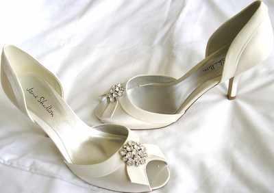 Jane Shilton shoes ivory satin jewel occasions shoes size 7