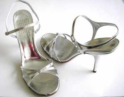 Pedro Garcia designer shoes sandals silver  leather size 6
