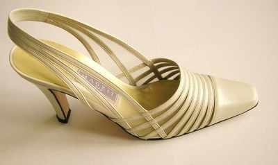 Magrit bridal designer high heel shoes cream size 4 used