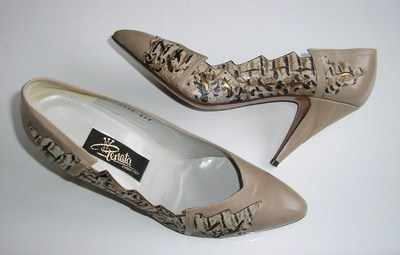 Renata designer shoes Taupe with animal print size 6.5