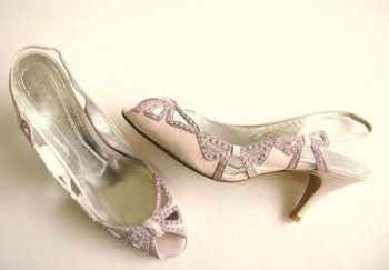 Magrit  occasions shoes pink lilac swarovski crystals size3.5