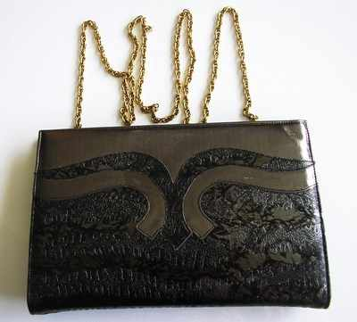 Gina evening  bag clutch/shoulder.graphite grey/black new