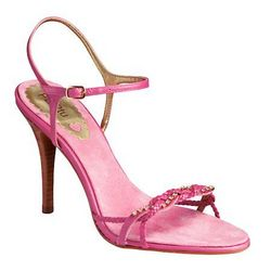 PERtu  designer shoes.Raspberry pink swarovski crystals size 6 .