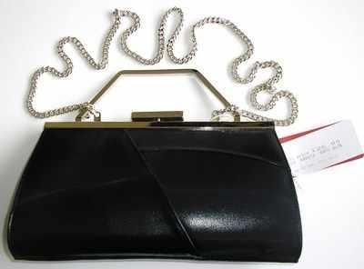 Renata occasions designer bag.dark navy leather with mesh.