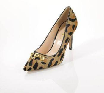 Ravel designer shoes leopard print courts heels size 4