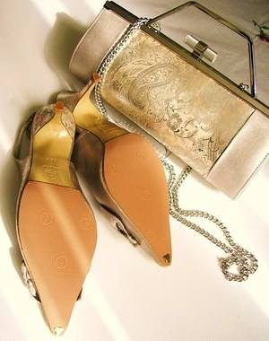 Renata shoes matching bag champagne size 3.5 003