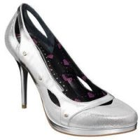 Fornarina platform silver stiletto designer shoes size 5 new