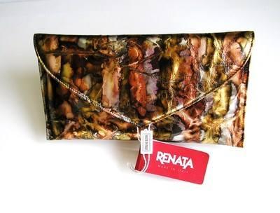 Renata designer evening clutch bag copper grey gold