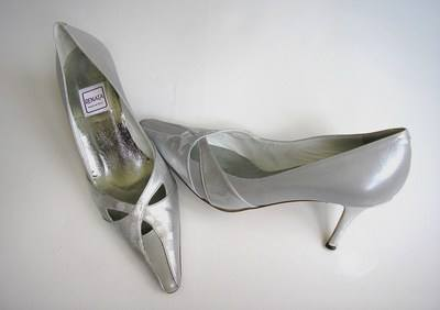 Renata designer shoes  silver greys size 4 used