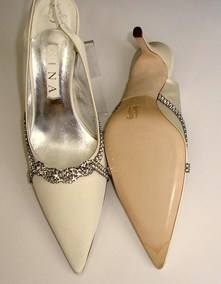 Gina Eva ivory and crystals bridal shoes 005