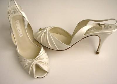 Gina cream wedding shoes size 7 7.5 001