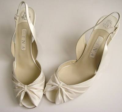 Gina cream wedding shoes size 7 7.5 002