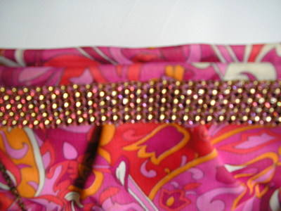 Gina pink purple crystals clutch 002