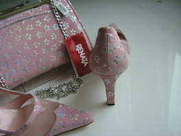 Renata pink shoes matching bag size 4.5 002