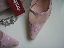 Renata pink shoes matching bag size 4.5 003
