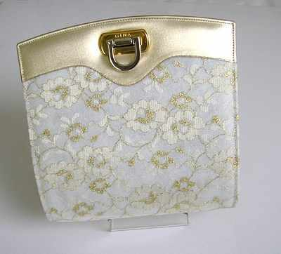 Gina designer bag.bridal,mother of the bride,cream gold.