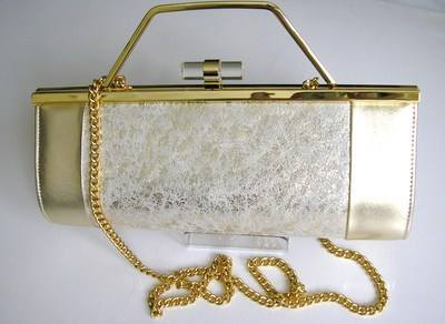 Renata 3 way half barrel shape bag gold cream
