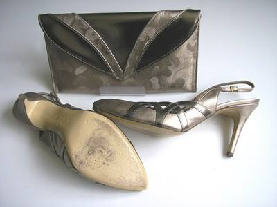 Renata beige and pewter sole size 5.5 (2)