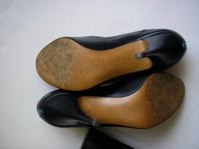 Gina peeptoe vintage undersoles