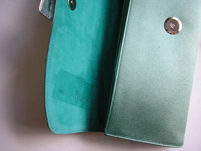 Gina sage green clutch inside flap