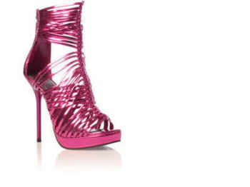 Carvela Kurt Geiger shoes metallic fuchsia gladiator size 4