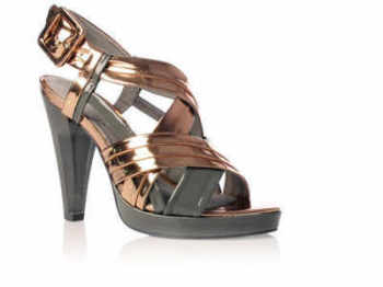 Kurt Geiger shoes fashionistas bronze/grey.size 6.5