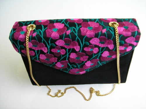 cerise black gina bag