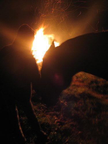 fireside night