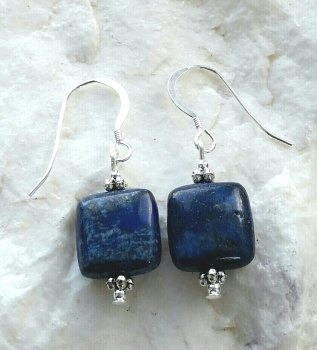 Lapis Lazuli Sterling Silver Gemstone Earrings