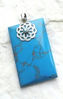 Turquoise Sea Sediment Gemstone Pendant