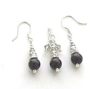 Black Onyx Gemstone Jewellery Set